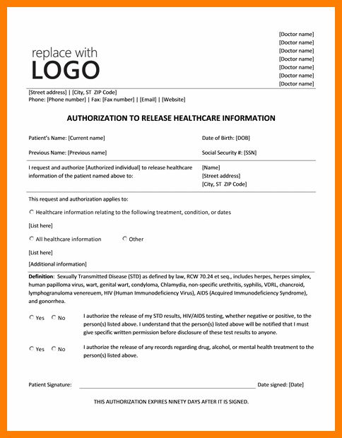 9+ general release of information form template | artist resumes