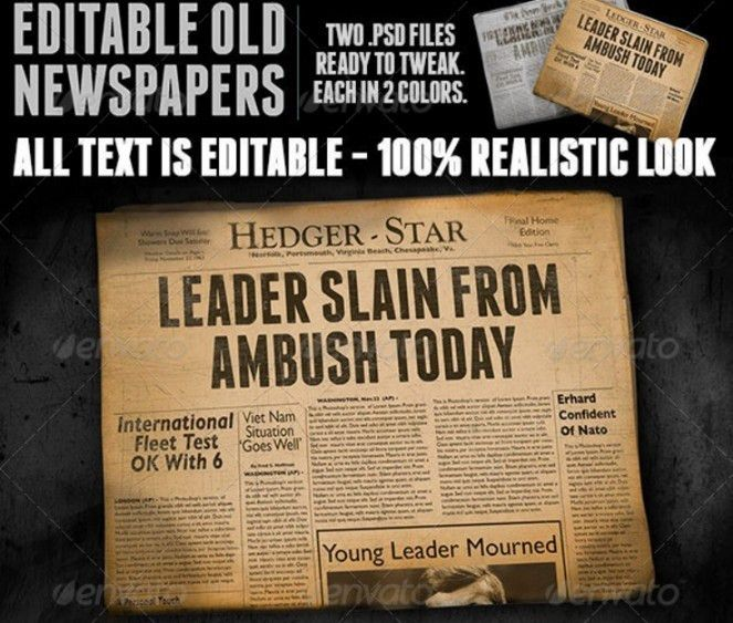 25+ Newspaper Ad Mockup PSD Design Template for Branding | 25+ ...