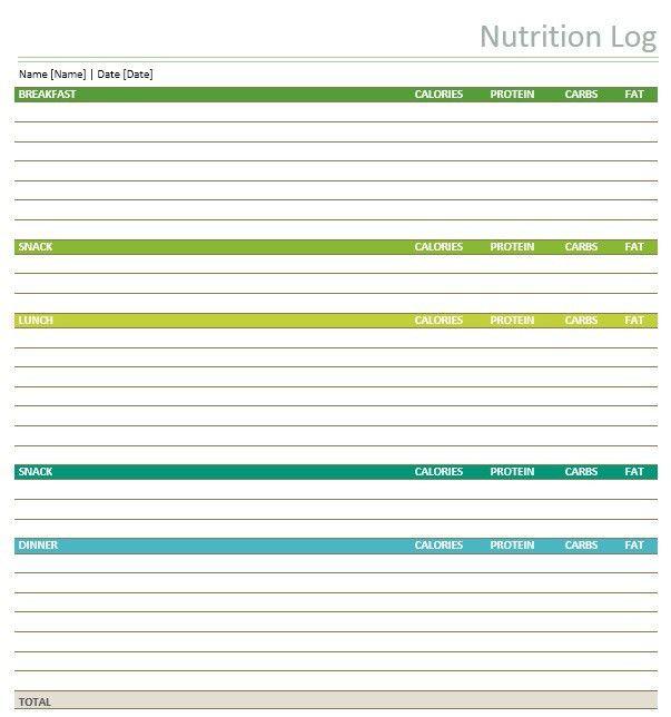 11 Free Sample Food Log Templates – Printable Samples