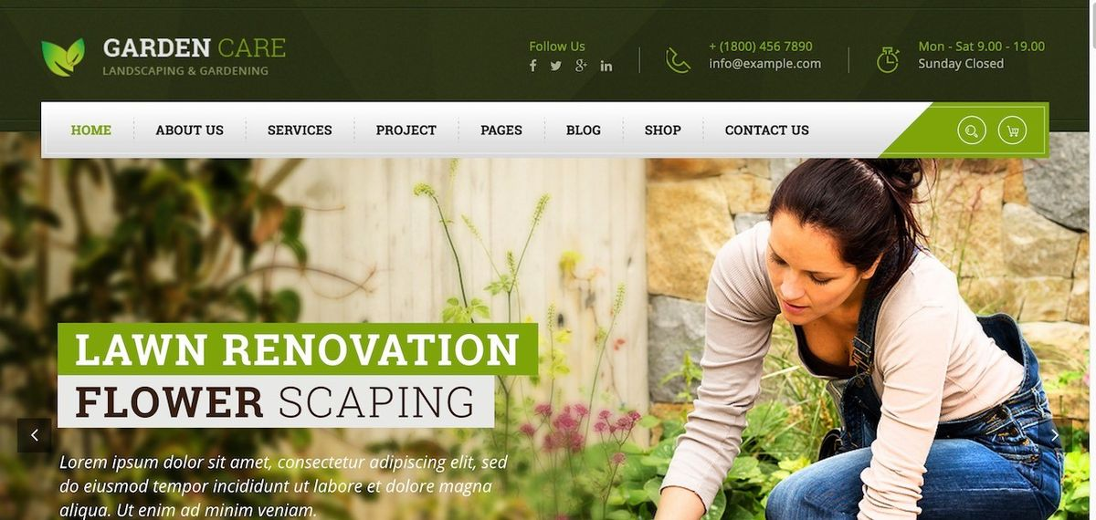 30 Best Gardening And Landscaping WordPress Themes 2017 - Colorlib
