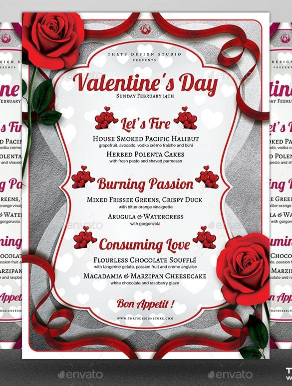 41+ Valentines Menu Templates – Free PSD, EPS Format Download ...