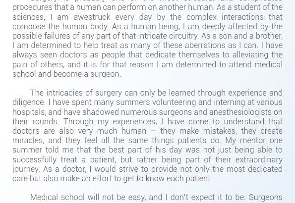 Help with Medical School Statement of Purpose | Statement of ...