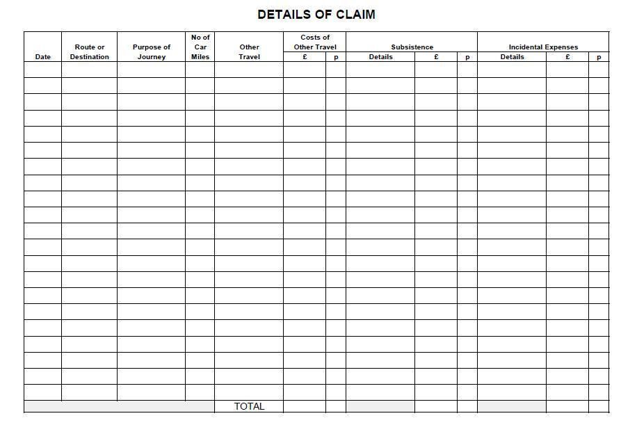 Claim Form In Pdf. Expenses Claim Form (Alternative Version ...