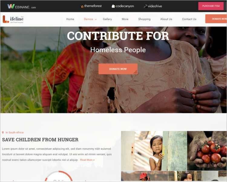 Non Profit Html Website Templates Free & Premium Themes | Creative ...