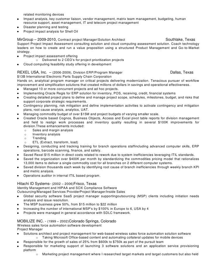 Program Manager Resume. Examples Of Project Management Resumes ...