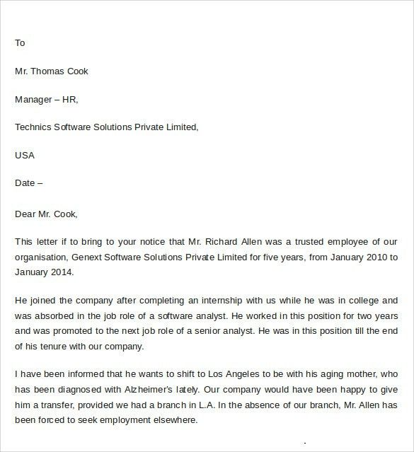 Sample Professional Letter of Recommendation - 8+ Download ...