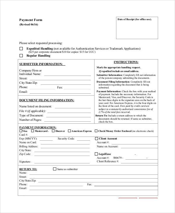 Sample Payment Form - 8+ Examples in PDF, Word
