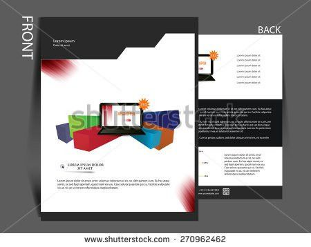 Flyer Magazine Cover Brochure Template Can Stock Vector 272988632 ...