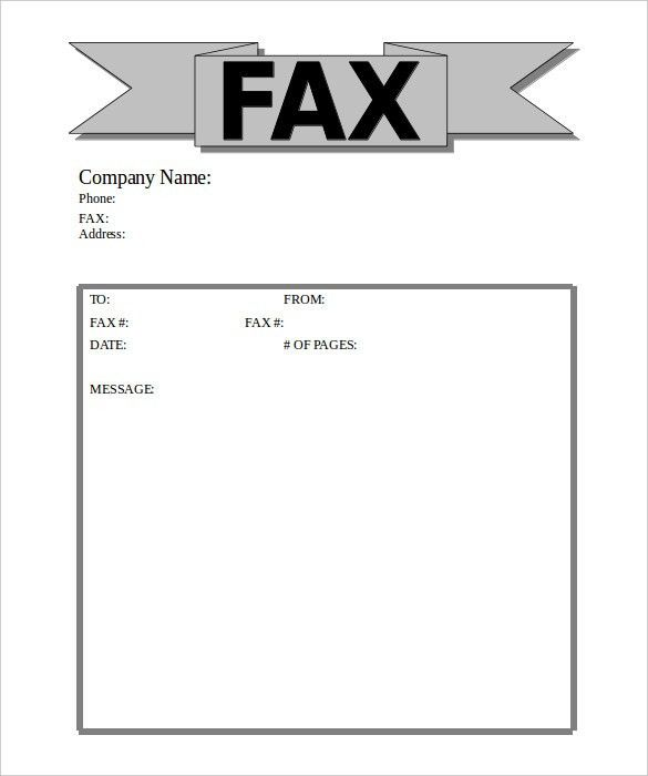 10+ Business Fax Cover Sheet Templates – Free Sample, Example ...