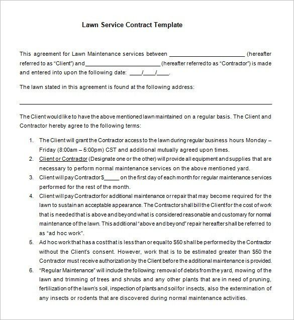 Download Maintenance Service Contract Sample ...