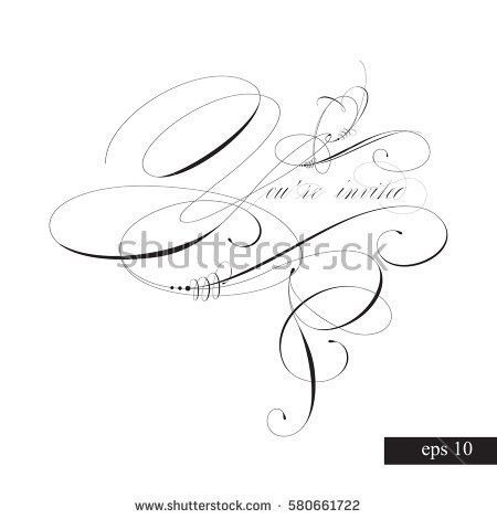 Youre Invited Templates Invitations Handmade Stock Vector ...