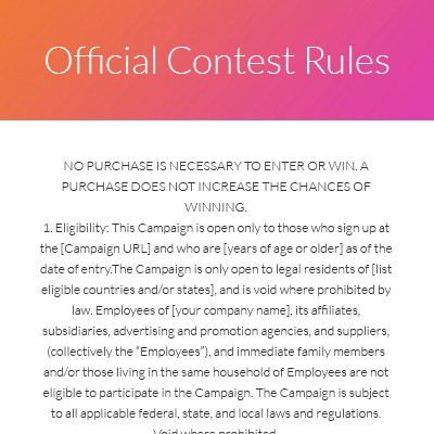 Contest Rules Template. artwork release form https drive google ...