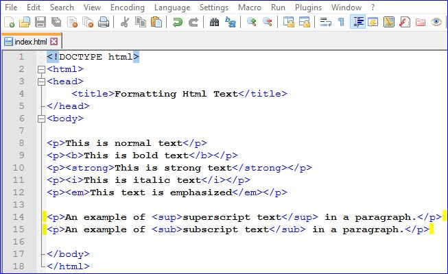 Formatting Html Text: HTML Web Development Tutorial Series Part 12