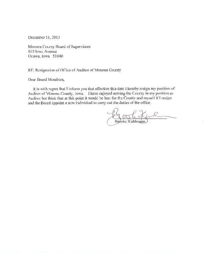 Resignation Letter Effective Today