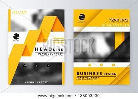 Layout Design Template. Annual Vector & Photo | Bigstock