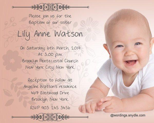 Christening Invitation Wording - marialonghi.Com