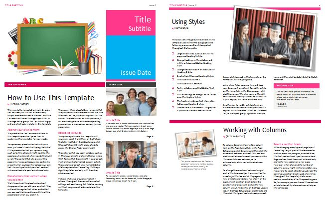 Free Newsletter Templates at Document Templates