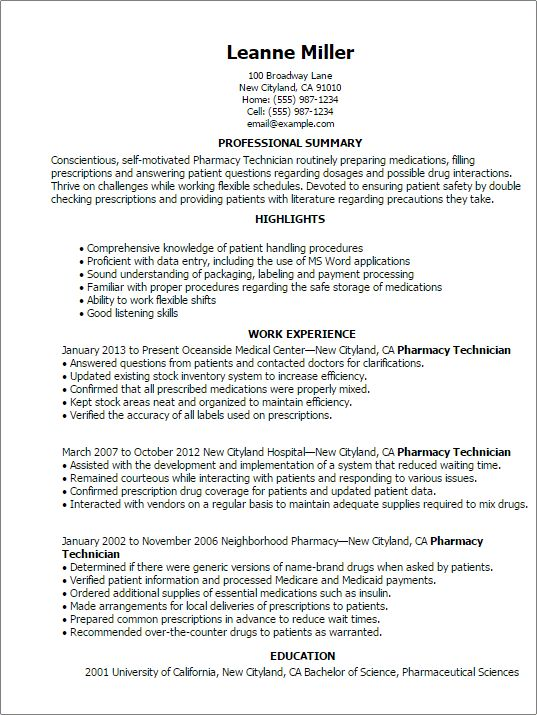 Lovely Design Pharmacy Technician Resume 13 Cover Letter Samples ...