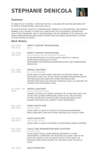 Extremely Ideas Direct Support Professional Resume 12 Best Direct ...