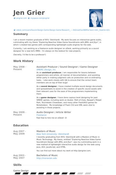 Assistant Producer Resume samples - VisualCV resume samples database