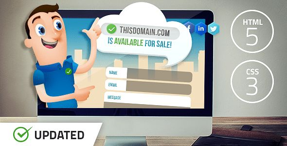 Salesman - Domain For Sale Template by FrequencyThemes | ThemeForest