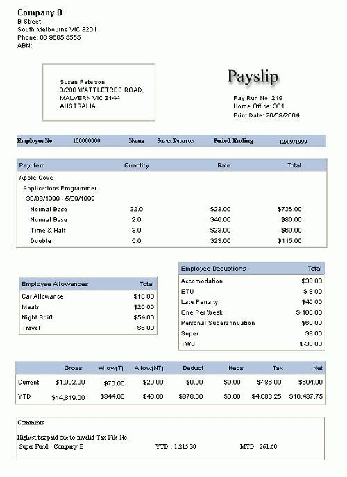 10+ Payslip Templates - Word Excel PDF Formats
