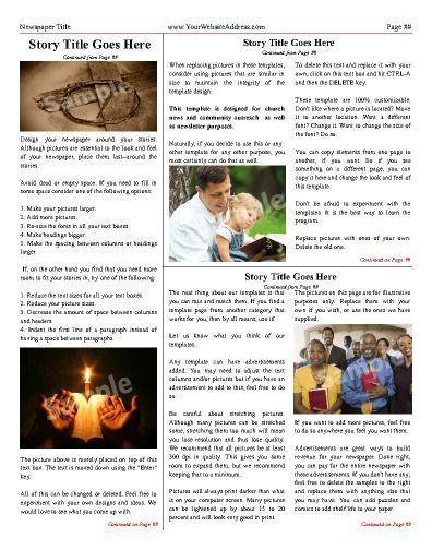 9 best Church Newspaper Templates images on Pinterest   Free cloud ...