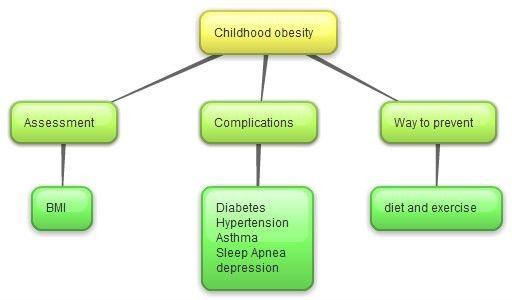 Example of a concept map for obesity - Educ186nursing