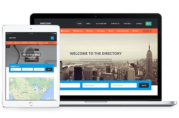 Review: JA Directory - Responsive Joomla template for Directory ...