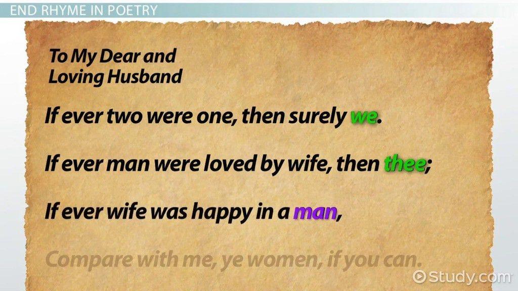 Feminine Rhyme: Definition & Examples - Video & Lesson Transcript ...