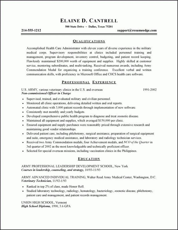 Download Army Resume | haadyaooverbayresort.com