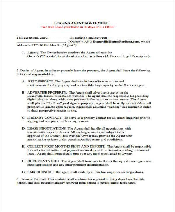 8+ Agency Agreement Form Samples - Free Sample, Example Format ...