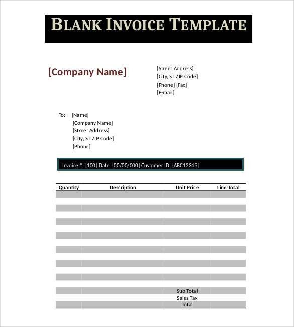 Google Invoice Template - 14+ Free Word, Excel, PDF Format | Free ...