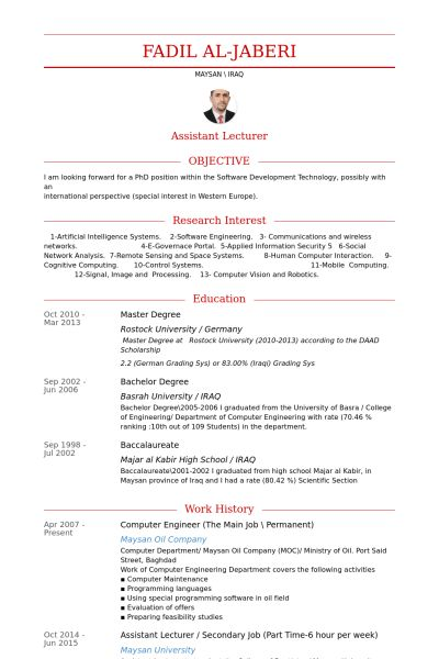 Computer Engineer Resume samples - VisualCV resume samples database