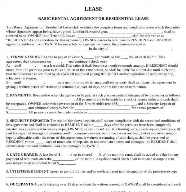 Printable Rental Agreement - 11+ Free Word, PDF Documents download ...