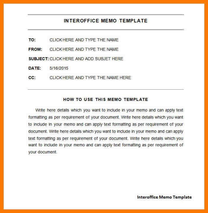 Inter Office Letter Interoffice Memo Template 7 Free Word Pdf – Interoffice Memos