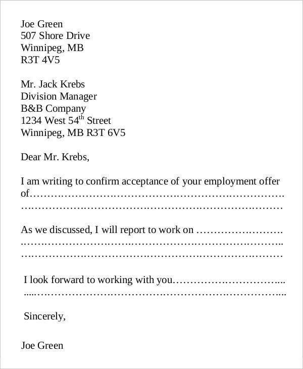 Proposal Acceptance Letter. Job Proposal Acceptance Letter 30+ ...