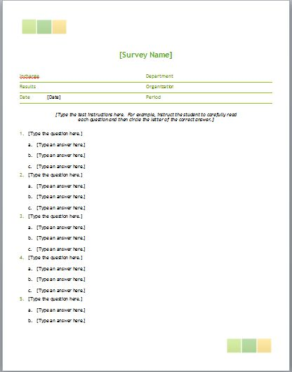 Salary Survey Template | Microsoft Word Templates