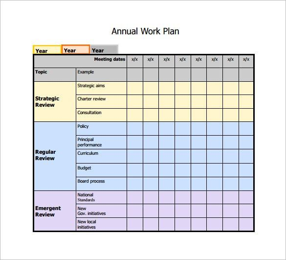 Work Plan Template - 4 Free Word, PDF Documents Download | Free ...