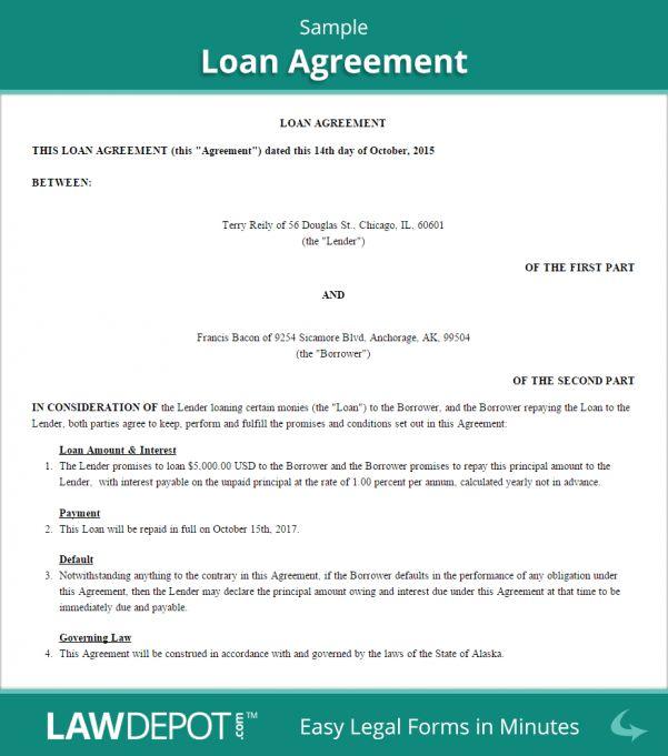 Example Of Car Loan Agreement Sample Car Loan Agreement Personal ...