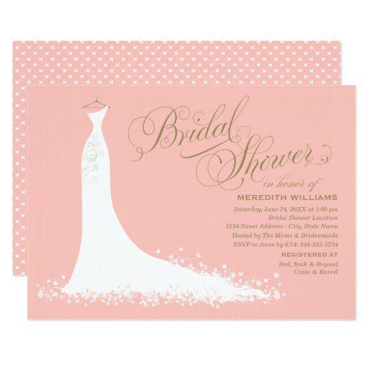 Elegant Bridal Shower Invitations & Announcements | Zazzle