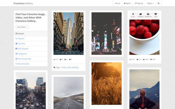 Fransisca - Gallery and Portfolio   Bootstrap Portfolio and Resume ...