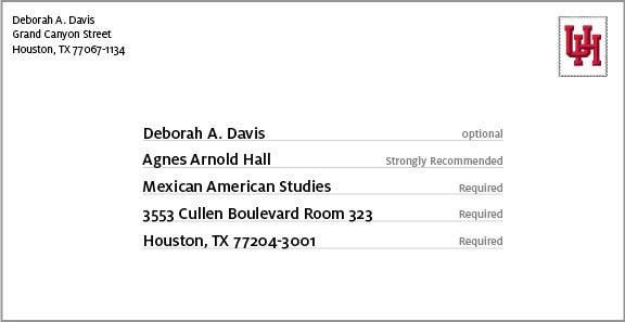 Address Formatting - University of Houston