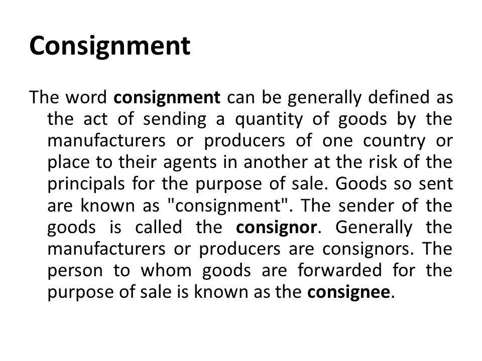 Accounting For Consignment - ppt video online download