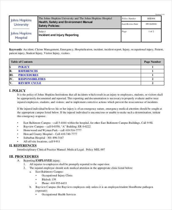 What Is It Incident Report. Incident Report Form Template 4+ ...