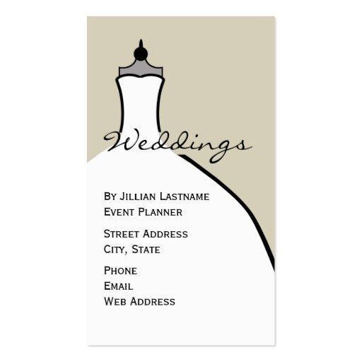 Wedding dress Business Card Templates - Page2 | BizCardStudio