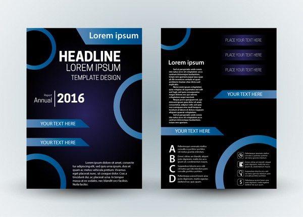 Corporate tri fold brochure template free vector download (14,104 ...