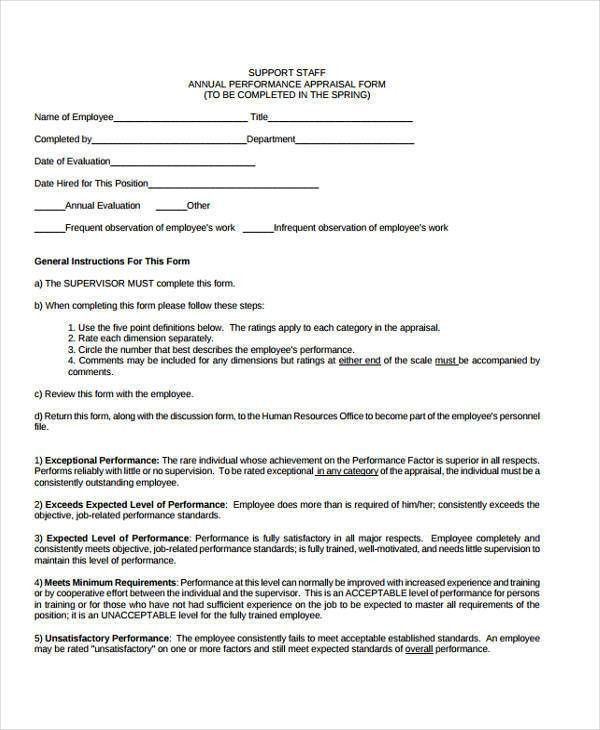 30 Appraisal Form Examples