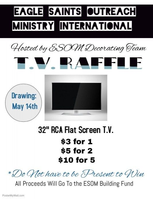 T.V. Raffle Ticket Flyer template | PosterMyWall