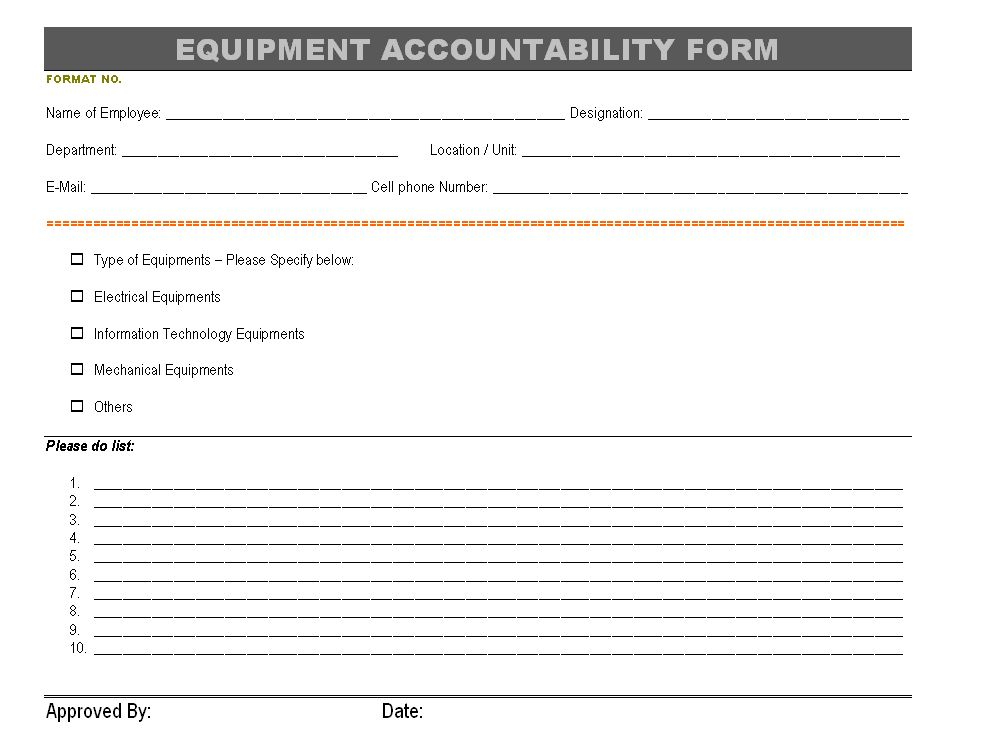 Sample Equipment Loan Agreement Form | Create Professional Resumes .